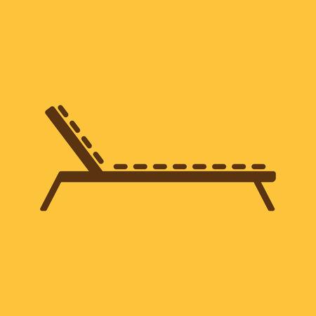 daybed: The lounger icon. Sunbed symbol. Flat Vector illustration Illustration