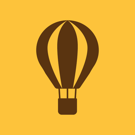 aerostat: The air balloon icon. Aerostat symbol. Flat Vector illustration