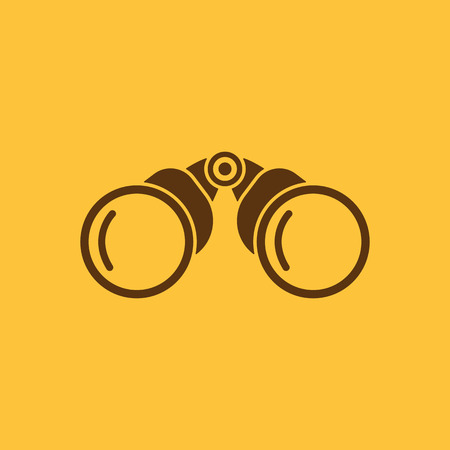 long distance: The binoculars icon. Search symbol. Flat Vector illustration