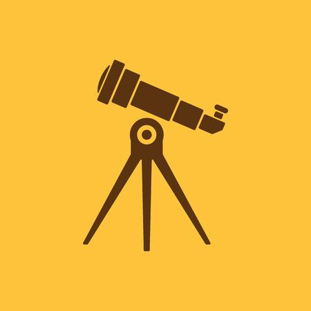 ocular: The telescope icon. Spyglass symbol. Flat Vector illustration Illustration