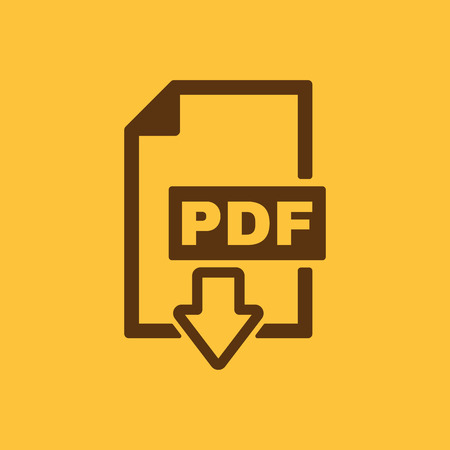 web site design: The PDF icon. File format symbol. Flat Vector illustration Illustration
