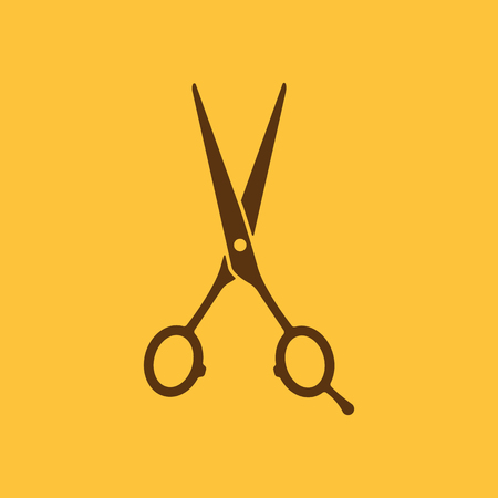 L'icône de ciseaux de coiffure. Symbole Barbershop. Flat Vector illustration