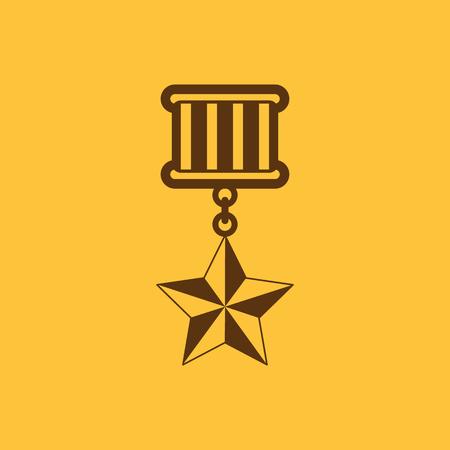honor: The medal icon. honor symbol. Flat Vector illustration Illustration