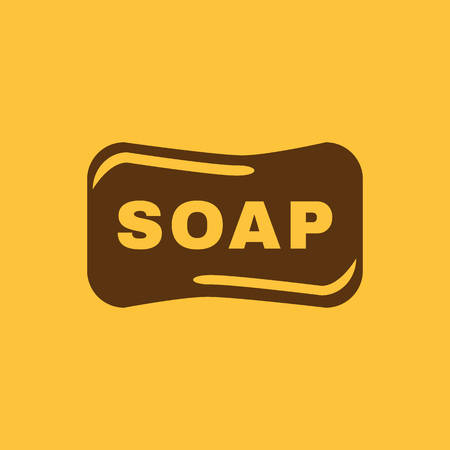 soap suds: The soap icon.  Soap symbol. Flat Vector illustration