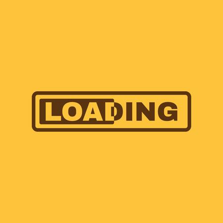 front loading: The loading icon. preloader symbol. Flat Vector illustration