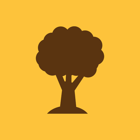 forestation: The tree icon. Nature symbol. Flat Vector illustration