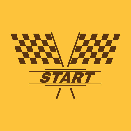 starting line: The start icon. Start symbol. Flat Vector illustration Illustration