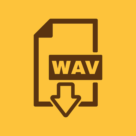 wav: The WAV icon. File audio format symbol. Flat Vector illustration