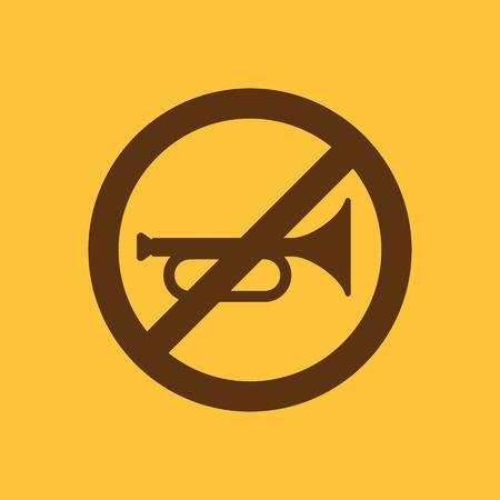 aloud: The keep quiet icon. No sound symbol. Flat Vector illustration. Button Set Illustration