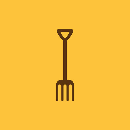 pitchfork: The pitchfork icon. Fork symbol. Flat Vector illustration