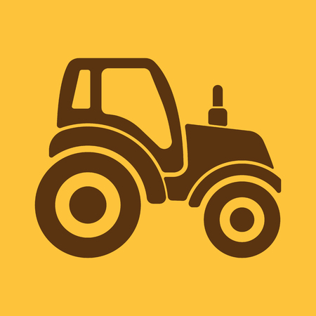 agrimotor: The tractor icon. Agrimotor symbol. Flat Vector illustration