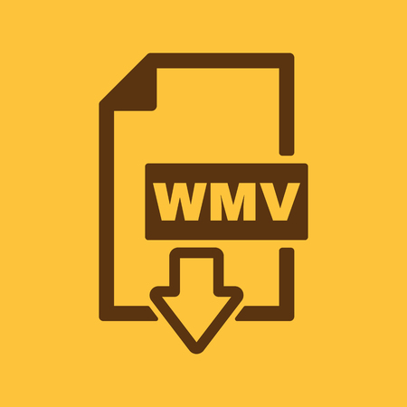 wmv: The WMV icon. Video file format symbol. Flat Vector illustration Illustration