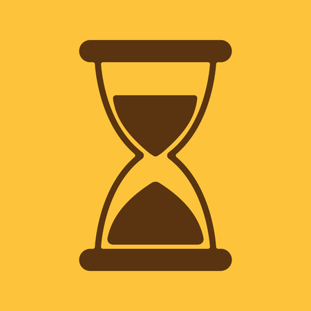 sand watch: The hourglass icon. Chronometer and timer, clock symbol. Flat Vector illustration