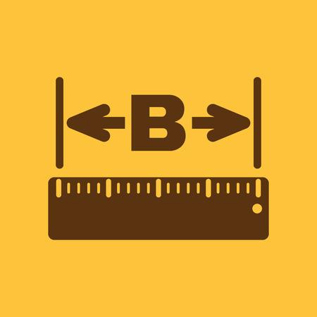 ruler: The width icon. Measurement and ruler symbol. Flat Vector illustration Illustration