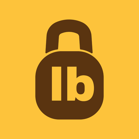 lb: The pound icon. Lb and weight symbol. Flat Vector illustration