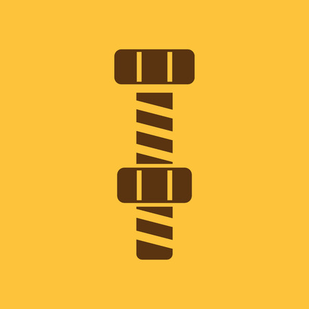 stranded: The bolt with nut stranded icon. Screw symbol. Flat Vector illustration