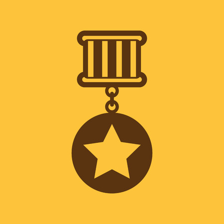 wining: The medal icon. Reward symbol. Flat Vector illustration Illustration