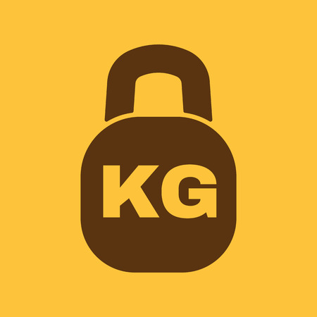 heaviness: The kilogram icon. Kg and weight symbol. Flat Vector illustration