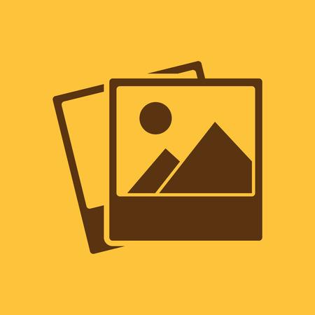 The photo icon. photograph and image, snapshot symbol. Flat Vector illustration Illustration