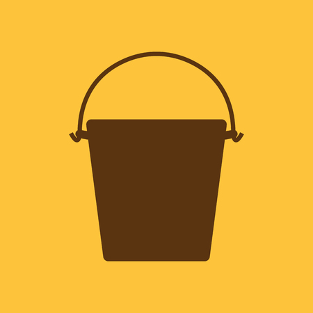 bucketful: The bucket icon. Pail and bucketful symbol. Flat Vector illustration Illustration