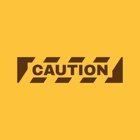 dangerous: The caution icon. Danger and hazard, attention symbol. Flat Vector illustration Illustration