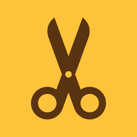 scissors cutting paper: The scissors icon. Shears and clippers, cut off symbol. Flat Vector illustration Illustration