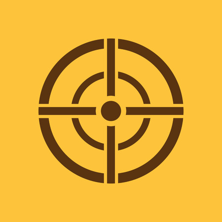 sniper crosshair: The aim bag icon. Crosshair and target, sight, sniper symbol. Flat Vector illustration. Button Set Illustration