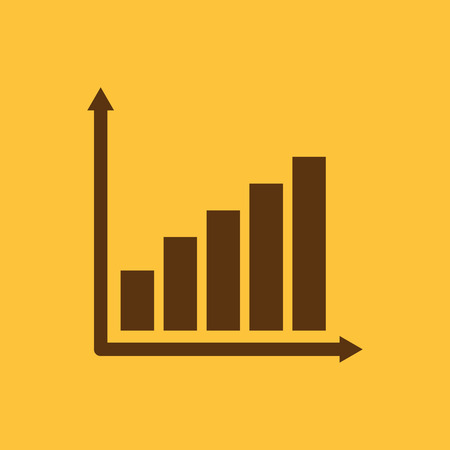 glyphs: The growing graph icon. Growth and up symbol. Flat Vector illustration