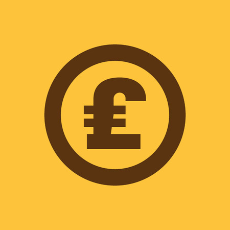 pound sterling: The pound sterling icon. Cash and money, wealth, payment symbol. Flat Vector illustration