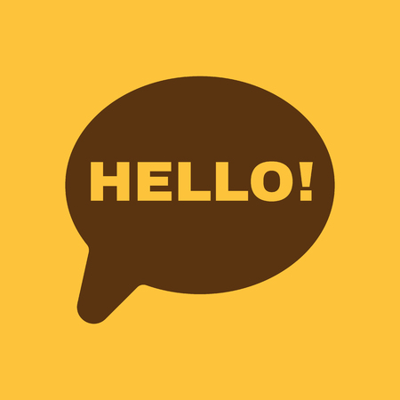 greet: The hello icon. Greet and hi symbol. Flat Vector illustration