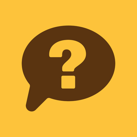 speech marks: The question mark icon. Help speech bubble symbol. Flat Vector illustration