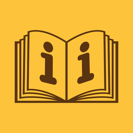instruction manual: The open book icon. Manual and tutorial, instruction, encyclopedia symbol. Flat Vector illustration