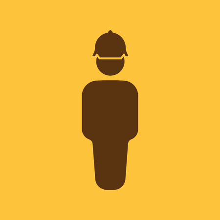 builder symbol: The worker icon. Engineer and repair, technician, builder symbol. Flat Vector illustration