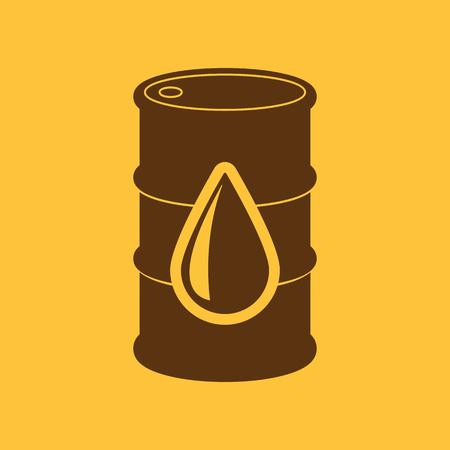 benzine: The barrel icon. Cask and oil, gasoline, petrol, benzine symbol. Flat Vector illustration