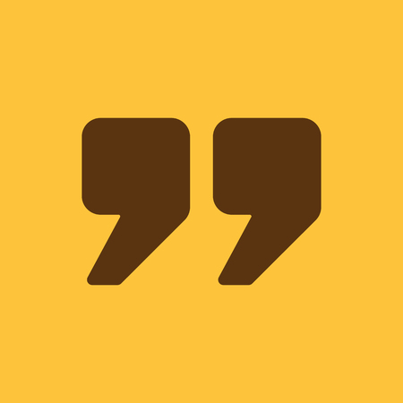quotation: The quote icon. Quotation symbol. Flat Vector illustration
