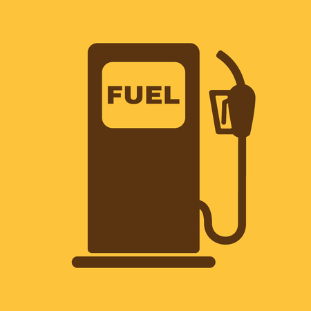 diesel: The gas station icon. Gasoline and diesel fuel symbol. Flat Vector illustration