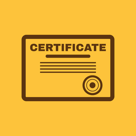 typography: The certificate icon. Diploma symbol. Flat Vector illustration Illustration