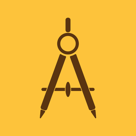 The divider icon. Surveyor and geometry, engineer, architect, school symbol. Flat Vector illustration