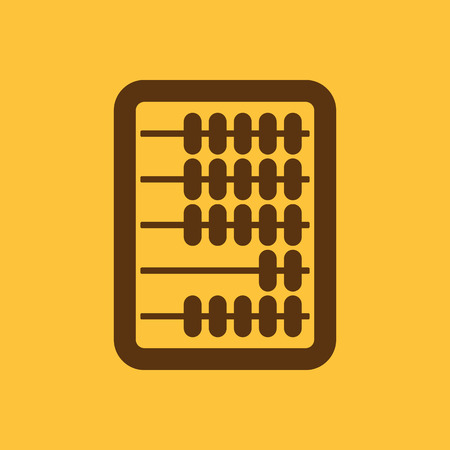 arithmetic: The abacus icon. Finance and calculation, accounting, calculator, arithmetic, mathematics symbol. Flat Vector illustration