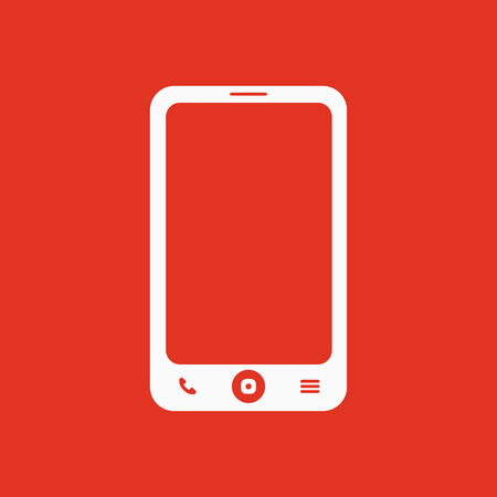 phone symbol: The smartphone icon. Phone symbol. Flat Vector illustration Illustration