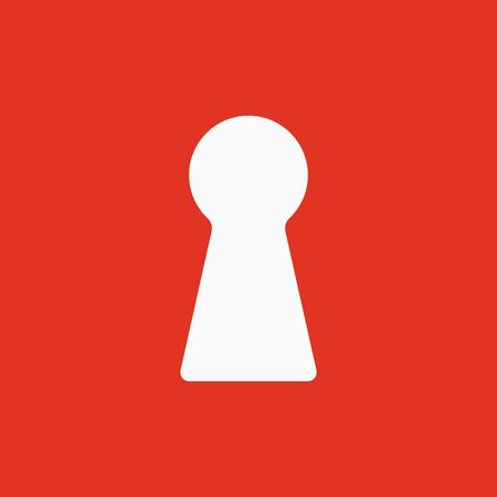 The keyhole icon. Lock symbol. Flat Vector illustration Illustration