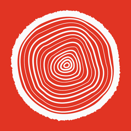 rings on a tree cut: The tree rings icon. Tree rings symbol. Flat Vector illustration.