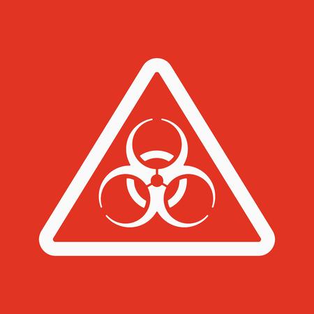 biohazard: The biohazard icon. Biohazard symbol. Flat Vector illustration Illustration
