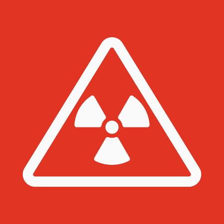 plutonium: The radiation icon. Radiation symbol. Flat Vector illustration Illustration