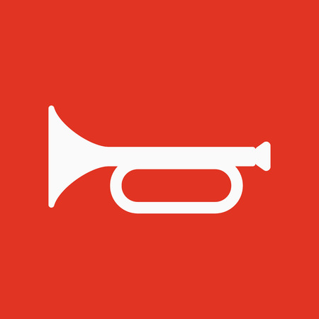 fanfare: The horn icon. clarion symbol. Flat Vector illustration