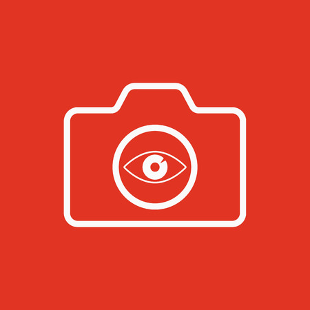 photography equipment: The camera icon. Photo symbol. Flat Vector illustration