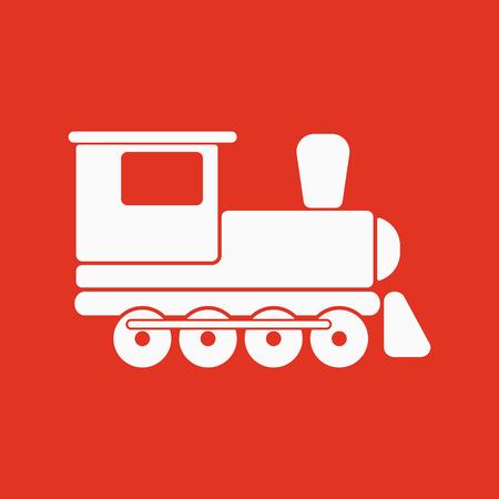 El icono de tren. Símbolo del recorrido. Ilustración del vector plana