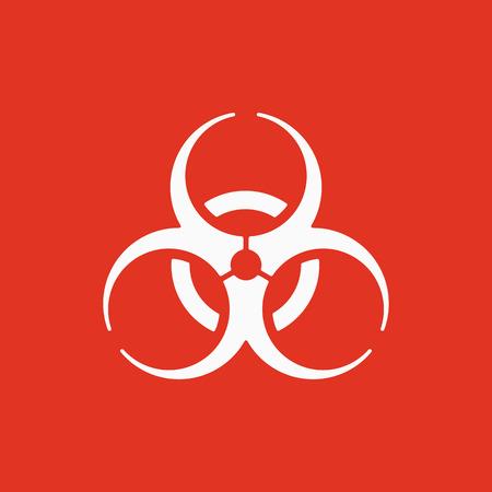 biohazard symbol: The biohazard icon. Biohazard symbol. Flat Vector illustration Illustration