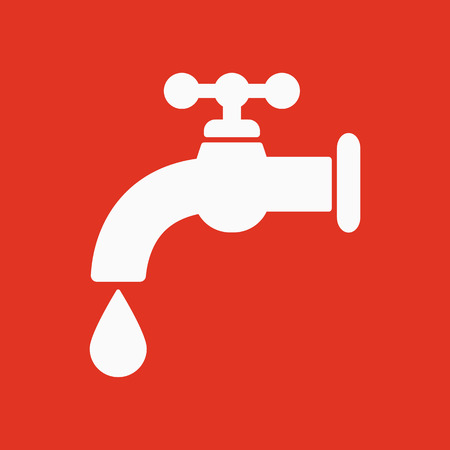 stopcock: The tap water icon. Water symbol. Flat Vector illustration Illustration