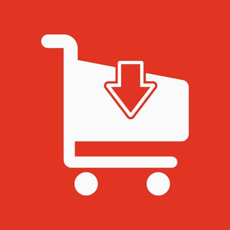 shoping: The cart shoping icon. Shop Cart symbol. Flat Vector illustration